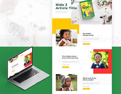 Nido Kids Web Redesign