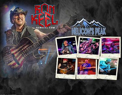 Ron Keel w/Helicon's Peak Promo 8x10