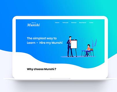 Hire my munshi - website