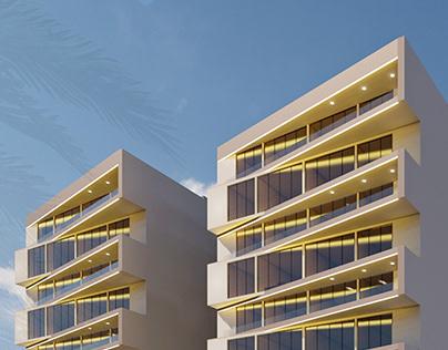 Mixed-use Apartment Building | Design Proposal | 3B+G+8
