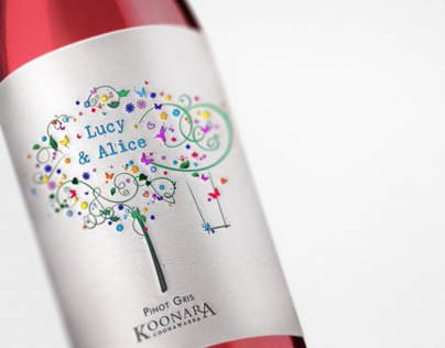 Koonara wine Label Design