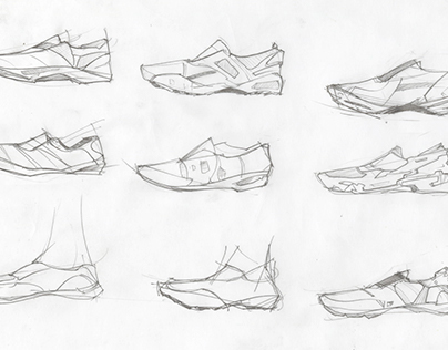 Shoe Sketches & Assorted Drawings