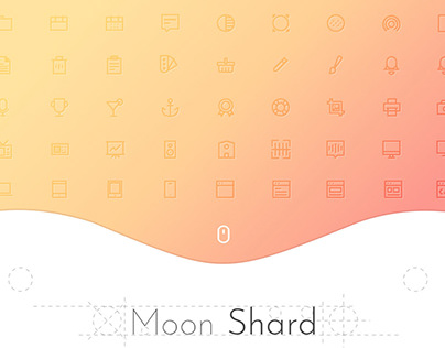 Free Moon Shard Icon Set