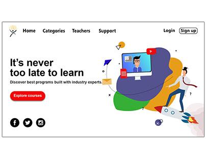 Online Tutor webpage design concept