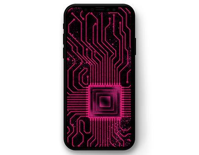 Circuit Board Phone Wallpaper (Free)