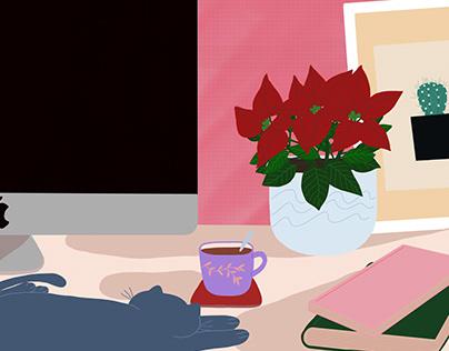 Interiors - Digital Illustrations
