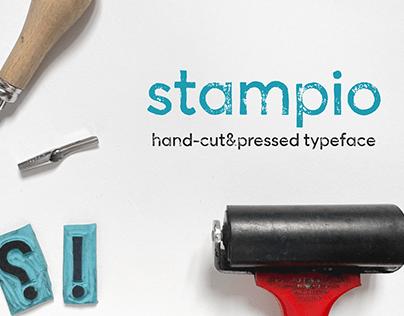 Stampio | Hand-made stamp typeface