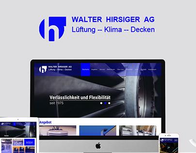 Responsive Webdesign for Walter Hirsiger