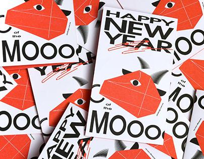 HAPPY NEW YEAR of the MOOOOOOOO / 2021 牛年賀卡