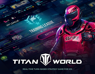 Titan World. Real-time turn-based Strategy Game for iOS