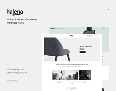 Halena - Minimal & Modern eCommerce WordPress theme
