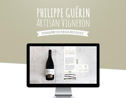 Design of Philippe Guerin's website.