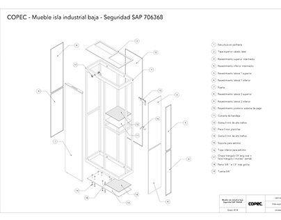 Planos de mueble 02 para Compomet Industrial