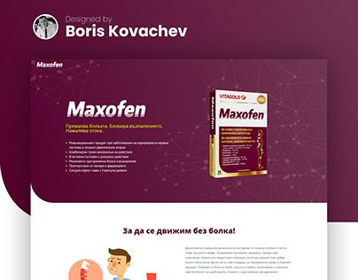 Maxofen Max Landing Page