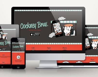 Cockney Bruv App Web Design