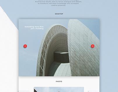 Website of an architectural company