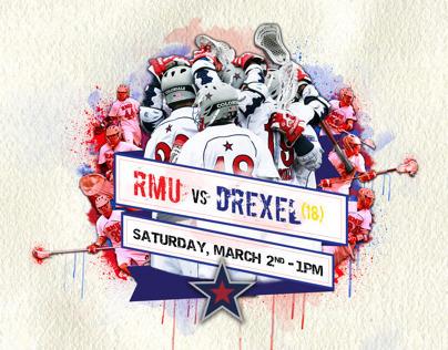 RMU Lacrosse: advertising posters