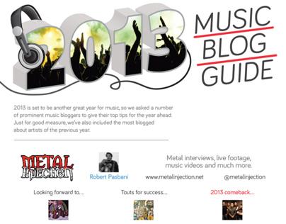 2013 Music Blog Guide