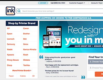 InkCartridges Responsive Website Redesign