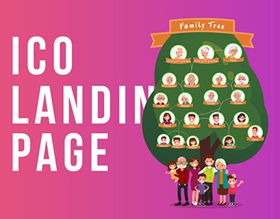 Blockchain Family Tree (ICO Landing page)