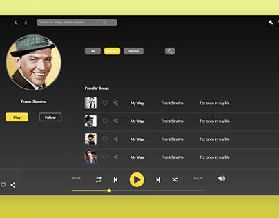 Daily UI Challenge Music player