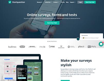 Start Question Online surveys, forms and tests webdesig