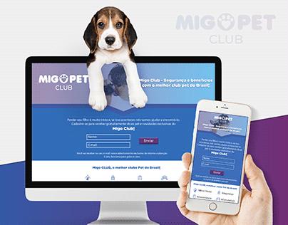 Migo Pet Club - Landing Page