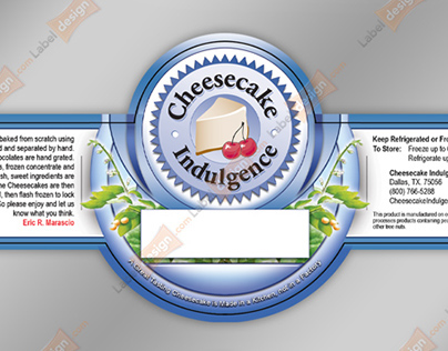 Label design for cheesecake