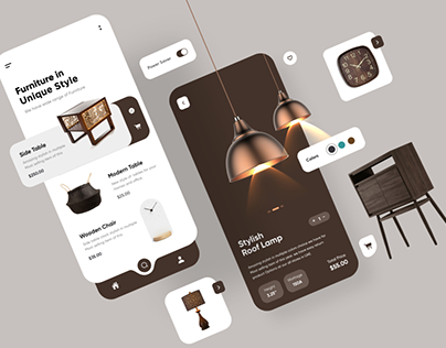 Furniture Mobile app UX UI Design