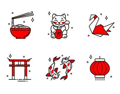 Japan Culture Icon set