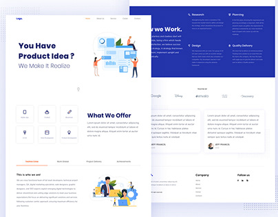 Landing Page - Wireframe and UI