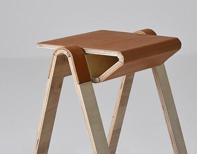 Kerf - folding stool chair