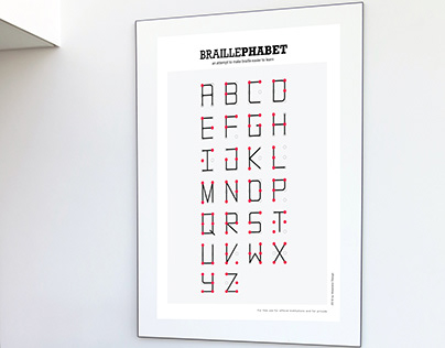 BRAILLEPHABET poster
