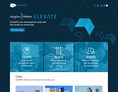 Salesforce Developers Microsite Landing Page