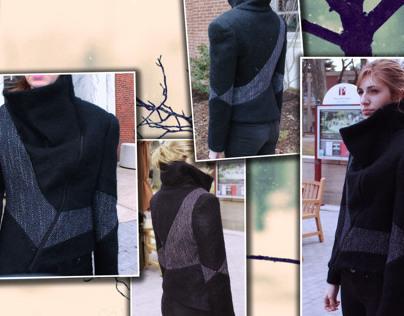 "Mohair ""Ninja Collar"" Jacket"