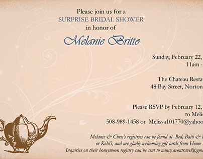 Invitations and Event Programs/Tickets