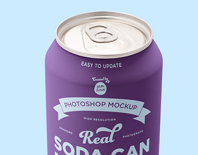 Tin Soda Can Mockup for photoshop