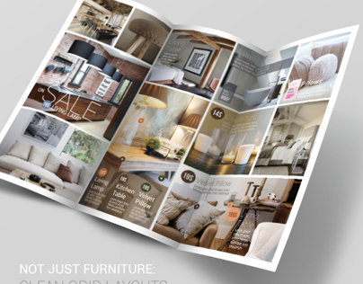 Furniture trifold flyer psd template on behance for P s furniture flyer