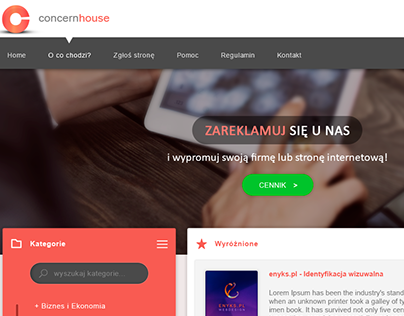 Flat design by enyks.pl - Concernhouse Project