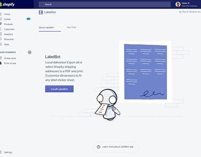 Shopify App UX / UI Design