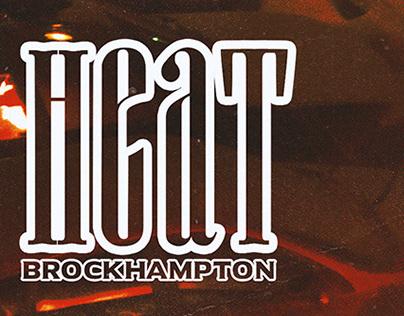 HEAT    Brockhampton Single Cover Art