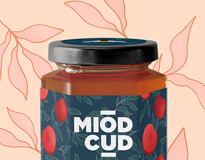Miód Cud - Logo and labels design of Polish honey