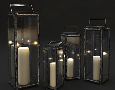 3-D model of Amalfi Lantern candlesticks