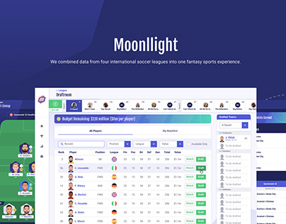 Moonllight | Fantasy Soccer App