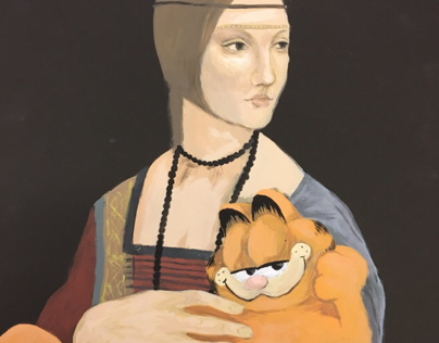 Lady with a Garfield