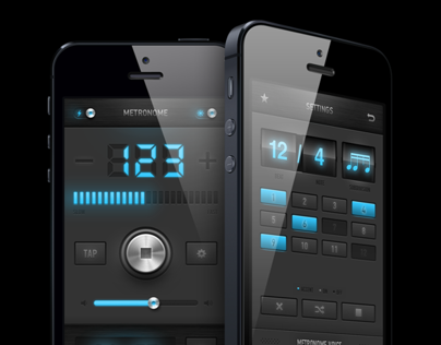 Metronome app redesign / iPad, iPhone