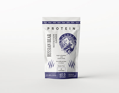 Packaging Design for RUSSIAN BEAR ( Protein )