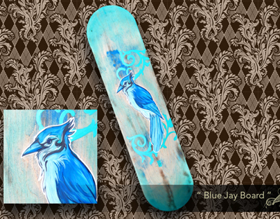 Speed Painting of Blue Jay Board