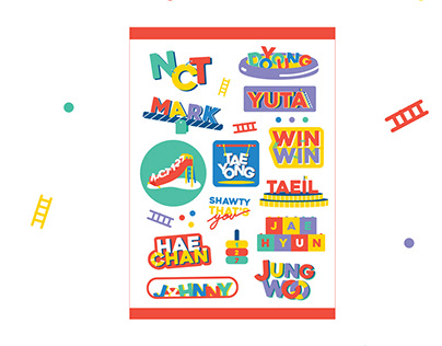 NCT127 Welcome to my playground concept stickers