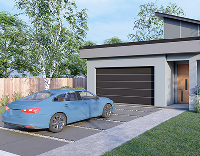 The exterior rendering